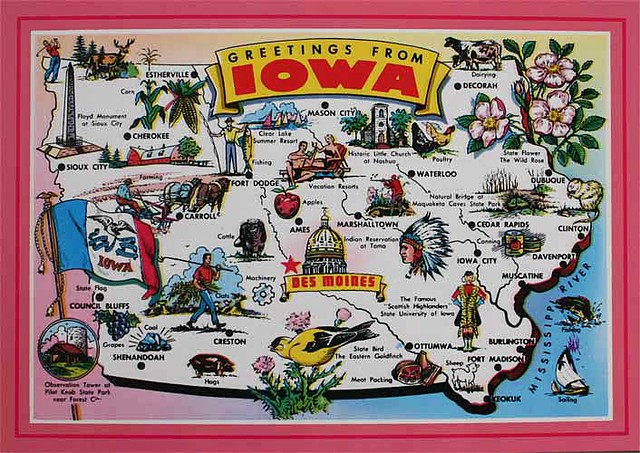 Iowa Cartoon Map From Maddeleine5 Us Beautiful Map Card Flickr - Cartoon-map-of-the-us