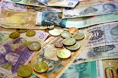 Foreign Currency and Coins | by bradipo