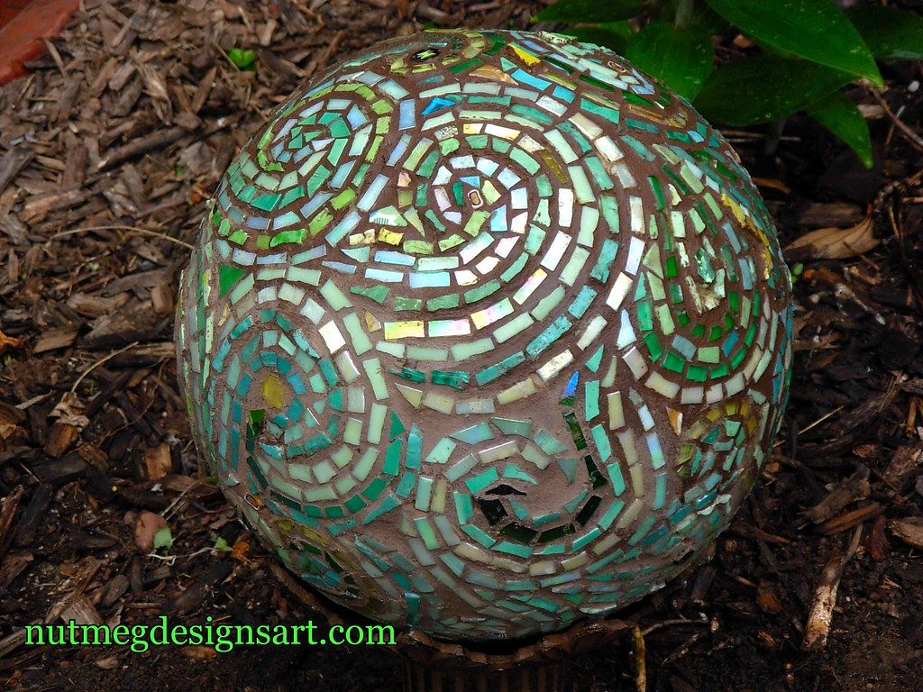 Margaret S Green Glass Mosaic Gazing Ball Bowling In The Flickr