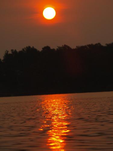 usa sun lake reflection water sunrise ok eufaulalake pynok ofotografiepentruocauza