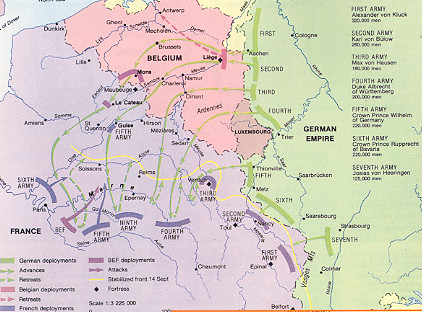 Map Of Germany France And Belgium.German Invasion Of Belgium And France 1914 History Today Magazine