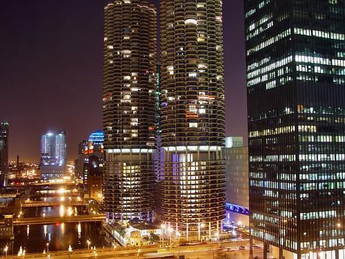 Chicago@night - IBM Towers | by Sugarmonster
