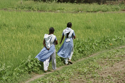 Girls returning home from classes | by World Bank Photo Collection