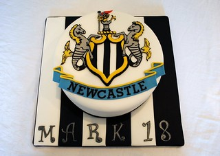 Newcastle United Football Cake | by thecustomcakeshop
