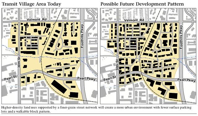 Boulder Transit Village Before and After