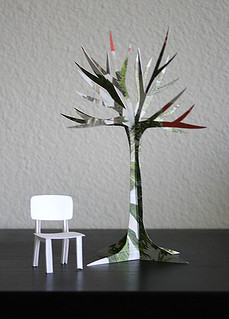 paper chair + paper  tree | by Patricia Zapata