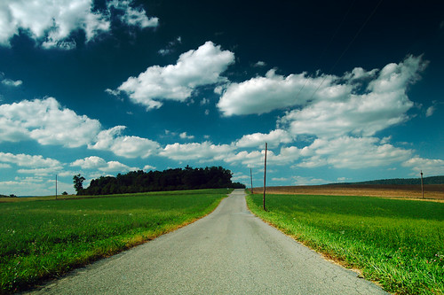 road sky field clouds rural empty country lonely crissinger