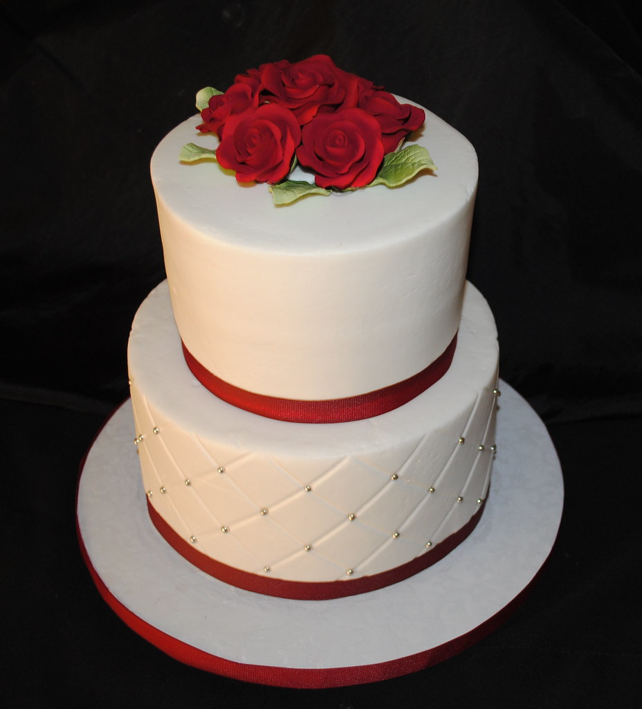Small Wedding Cakes.Small Wedding Cake Just A Simple Wedding Cake Iced In But