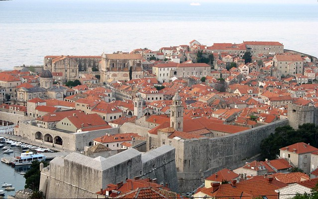 First view of Dubrovnik in the early morning