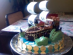 pirate ship and dragon | by lovecake