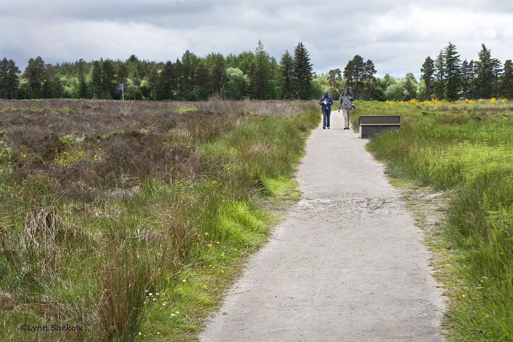 Culloden Battlefield | The blue flag indicates where Bonnie … | Flickr