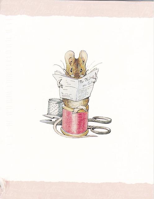 Beatrix Potter The Tailor Mouse Postcard