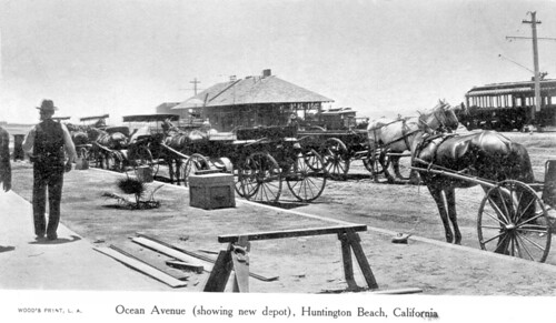 New depot, Ocean Ave., Huntington Beach, circa 1904 | by Orange County Archives