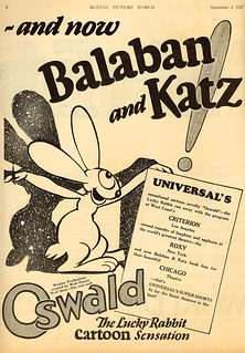 Oswald the Lucky Rabbit Ad