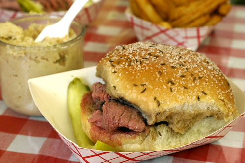 Beef on Weck - sandwich and horseradish   by nickgraywfu