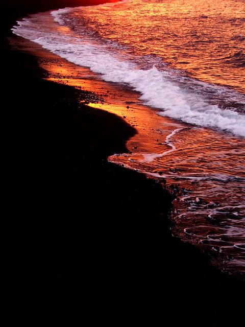 il mare al tramonto(stromboli)