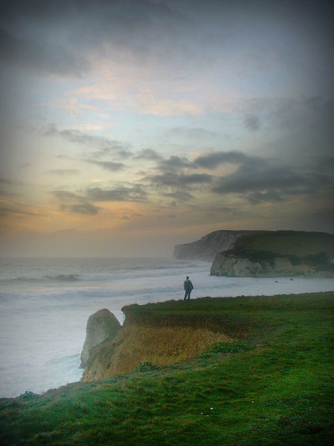 Lonely as a cloud?  - Freshwater Bay Landscape, Isle of Wight