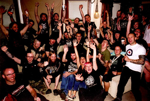 How Many Punks Can You Fit In A Living Room?!