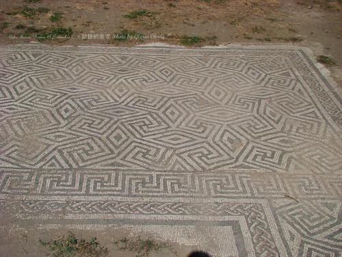Mosaics on the ground at Piazzale della Vittoria   by Gloria Chang