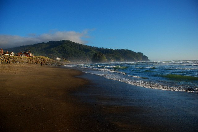 The perfect time of day to be on the Oregon Coast