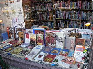 Buddhist Books in the Window at Magus Books Seattle | by brewbooks