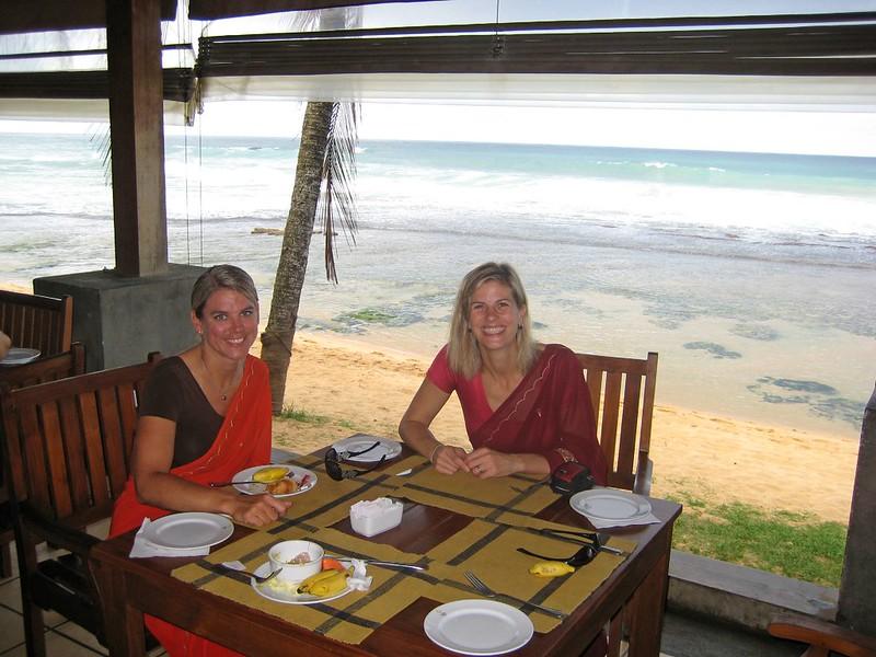 maureen + cassie in sarees @ amaya reef hotel
