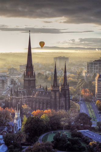 church sunrise view hotair foggy melbourne victoria viewfromabove mygearandmepremium mygearandmebronze mygearandmesilver mygearandmegold mygearandmeplatinum mygearandmediamond watchoutforthepointybit aboveandbeyondlevel1 aboveandbeyondlevel2