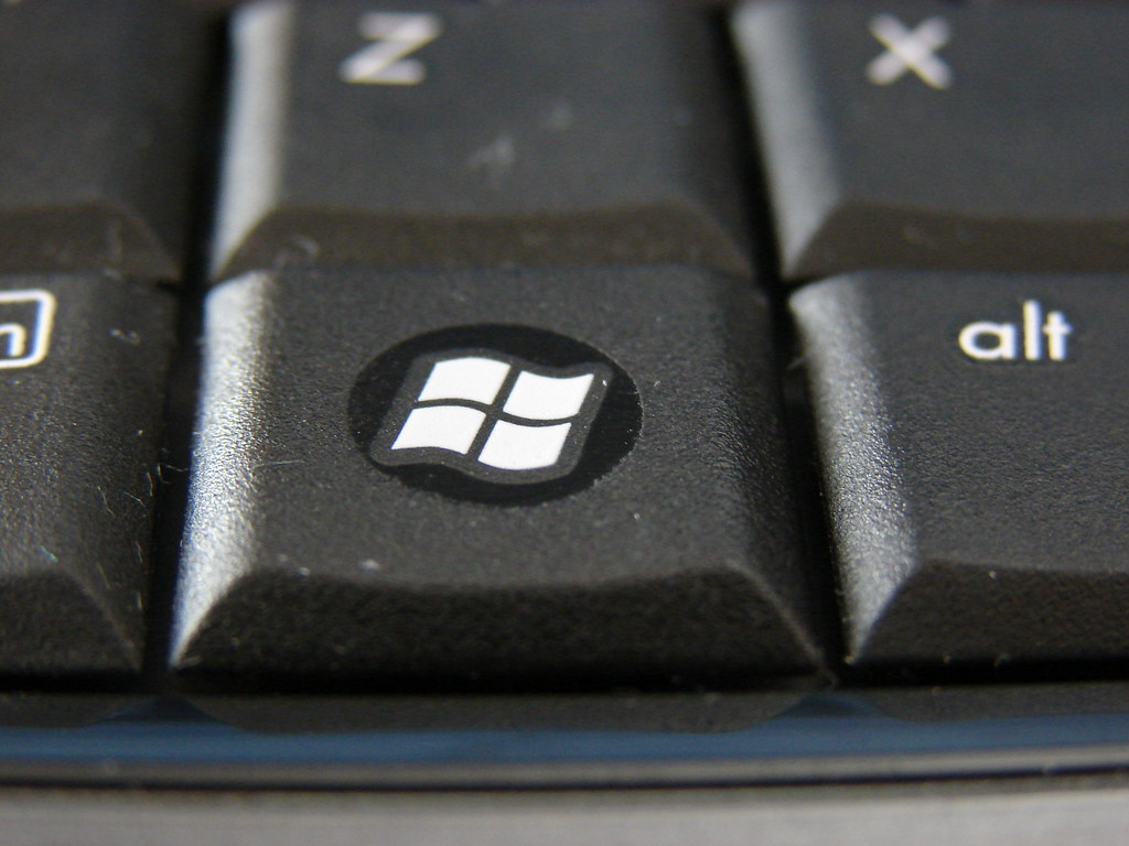 where is windows key on laptop