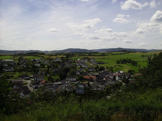 Aussicht Richtung Hallenberg, Ziegenhelle