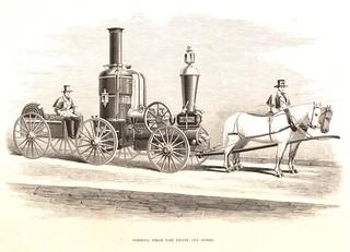 Hibernia steam fire engine and horses. | by Villanova University Digital Library