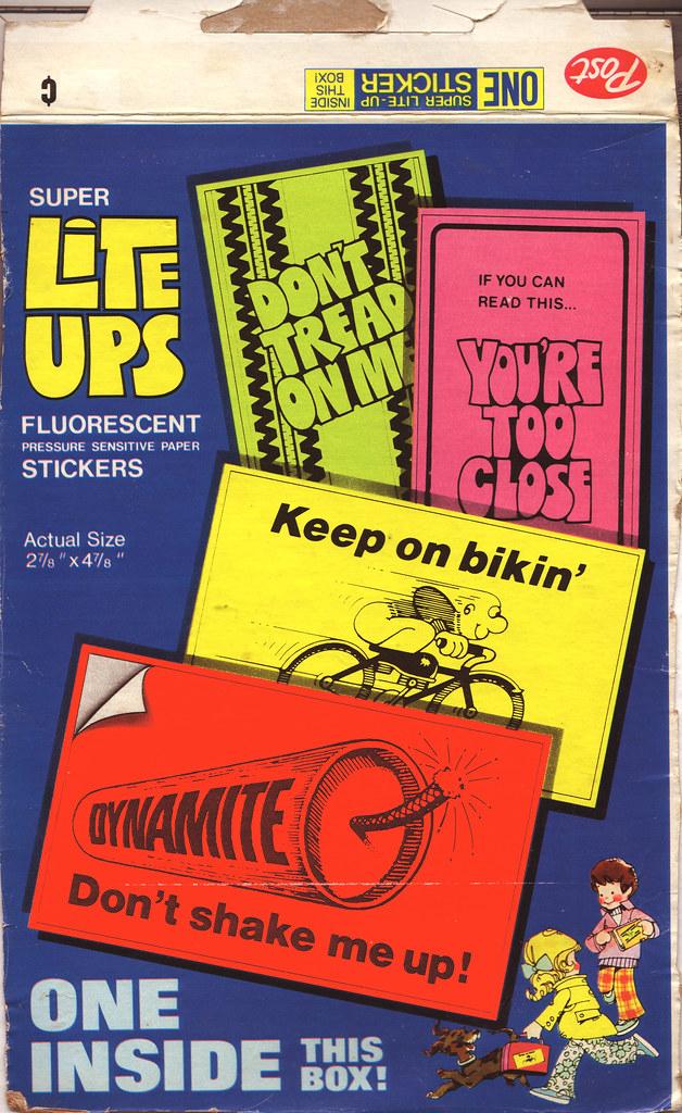 Post Raisin Bran - Super Lite-Ups stickers - Box Back - 19