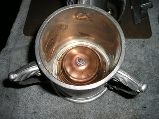 Brass Cap to hold Bells in Glass Bottom