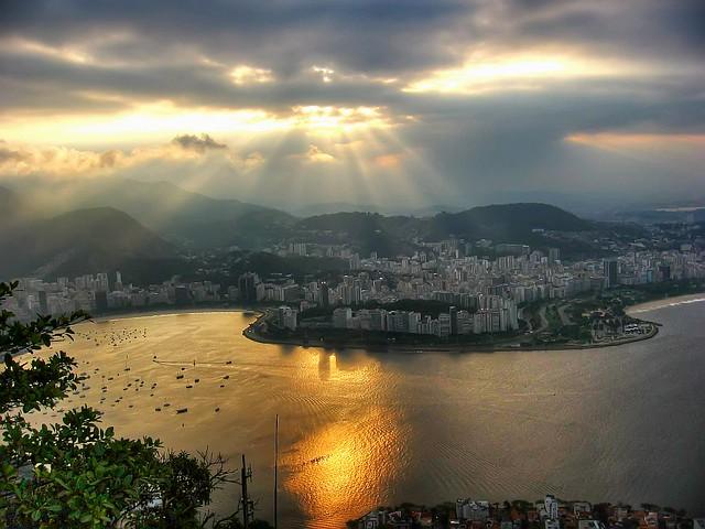 Rio de Janeiro, Brasil, Sunset from Sugar Loaf