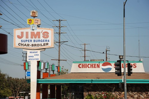 jim's super burgers (did not visit, liked the animal pictures on the sign) | by kthread