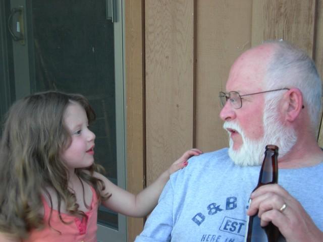 Liliana asks Grandpa a question
