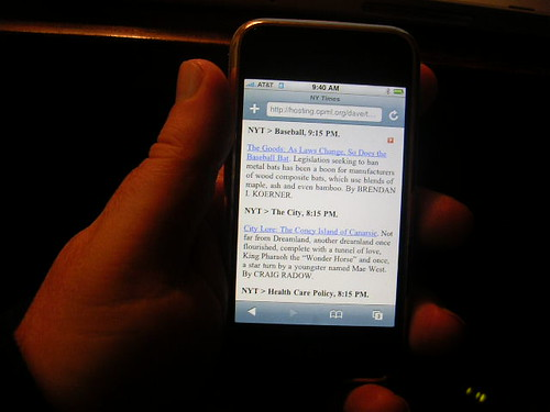 Readable websites on an iPhone | by scriptingnews