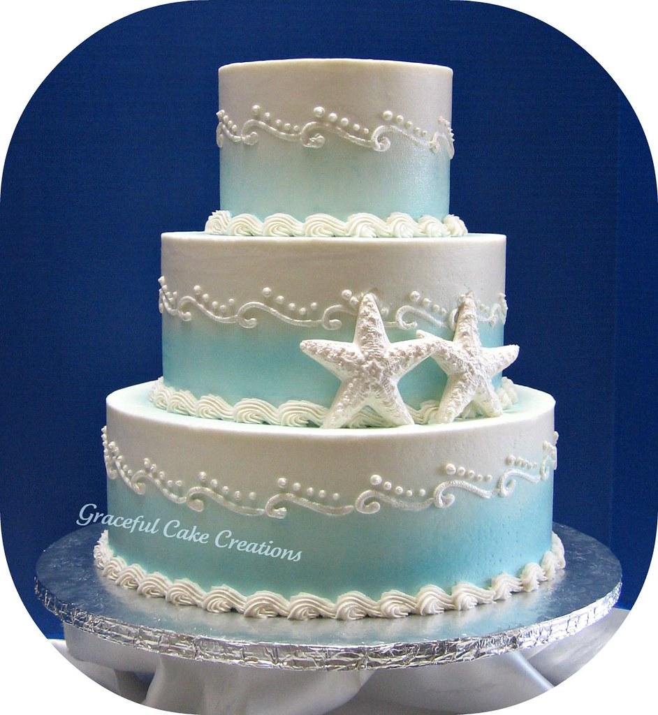 beach themed wedding cake | grace tari | flickr