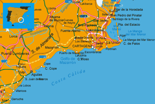 Map Of South Spain.Maps Spain Costa Calida Map Costa Calida Spanish South Coa Flickr