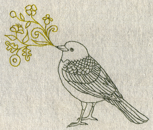 Singing bird embroidery | by Geninne