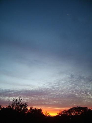 morning usa moon boston sunrise roslindale 20060912usa