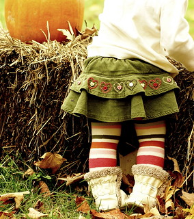 Striped tights and a pumpkin | by *Pretty in Pink*