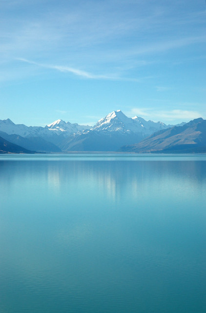 Mt. Cook seen from Lake Pukaki