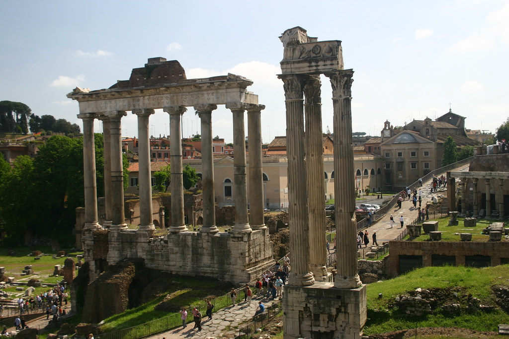 Tempio Di Saturno And Tempio Di Vespasiano E Tito Jonathan Flickr
