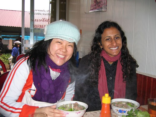 Warm pho, cold morning, big smiles | by Adrienne.