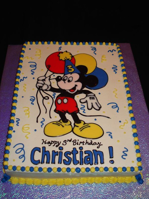 Miraculous Mickey Mouse Birthday Cake Mickey Mouse Holding Balloons O Flickr Funny Birthday Cards Online Fluifree Goldxyz