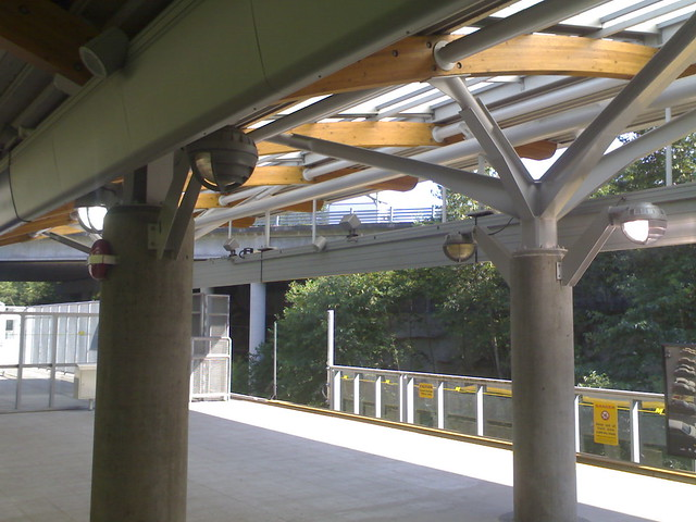 Lights on at Commercial Drive Station