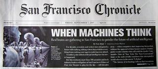 Singularity in San Francisco Chronicle   by david.orban