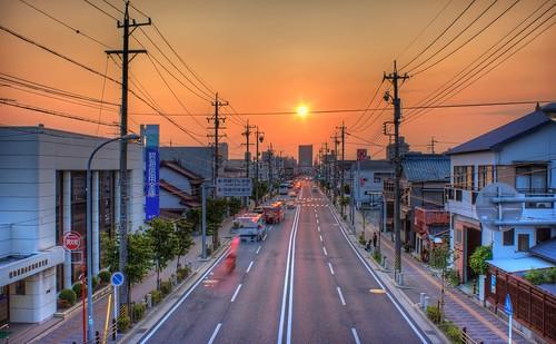 sunset sky orange yellow japan photoshop canon golden aperture cityscape 日本 hdr goldenhour aichiprefecture honshu 愛知県 mikawa photomatixpro 岡崎市 eos450d 本州 davidlaspina rebelxsi kissx2 1855efsis topazadjust okazakicity japandave japandavecom 三河国