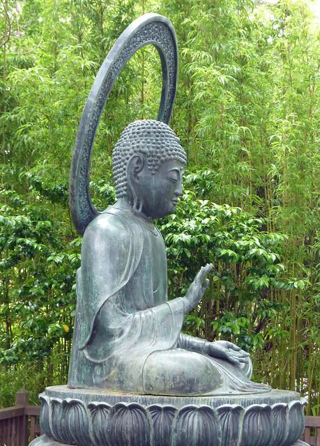 Buddha statue in the Japanese Garden in Golden Gate Park