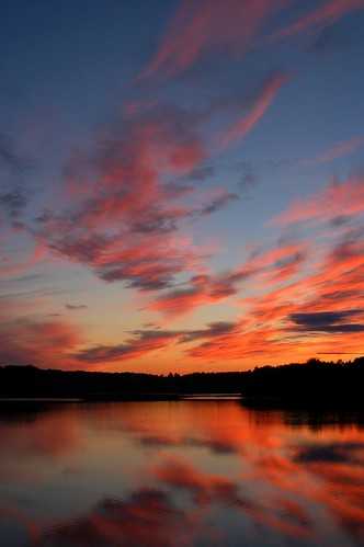 sunset sky reflection clouds michigan lakes nikond50 glennie ilovemypic vaughnlake